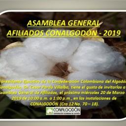 Asamblea General Conalgodon Marzo 20 de 2019