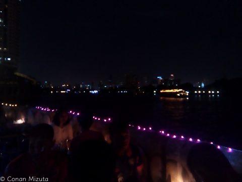 チャオプラヤ川沿いからの夜景
