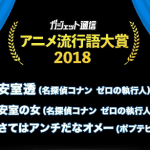 安室の女とは?2018年アニメ流行語大賞受賞!
