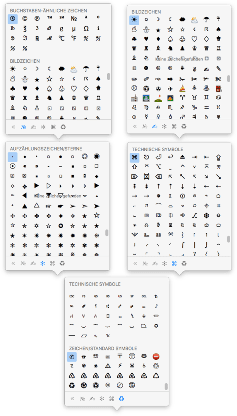 unicode symbol picker mac