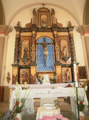 Altar mayor de la iglesia