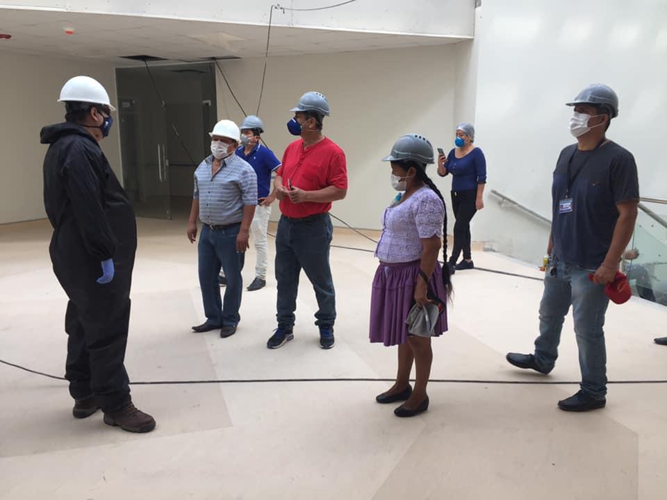 95 % de avance en la construcción del hospital de segundo nivel Montero