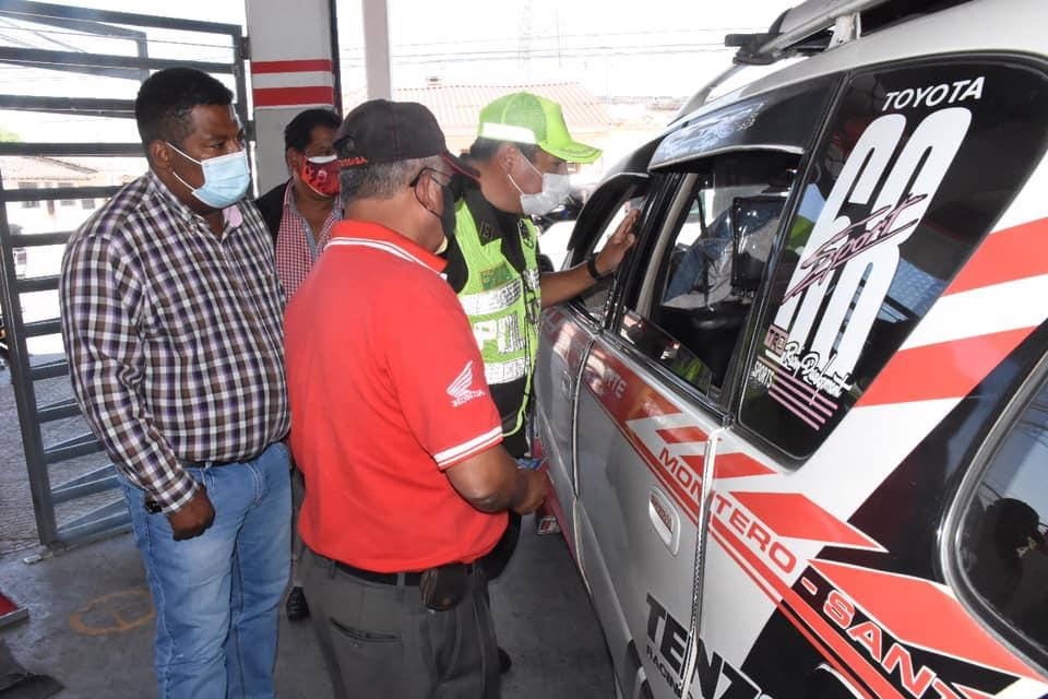 Realizan una inspección sorpresa a las paradas de los diferentes instituciones del transporte en Montero.