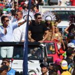 Guardia Nacional escolta a Roberto Palazuelos en carnaval de Progreso - Palazuelos agradece a la Guardia Nacional por escoltarlo en carnaval de Progreso, Yucatán - #Noticias
