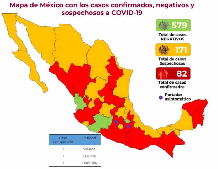 D606843D C7F2 4775 879D 527ED06C349E - 82 casos de COVID-19 en México y 171 sospechosos: Salud