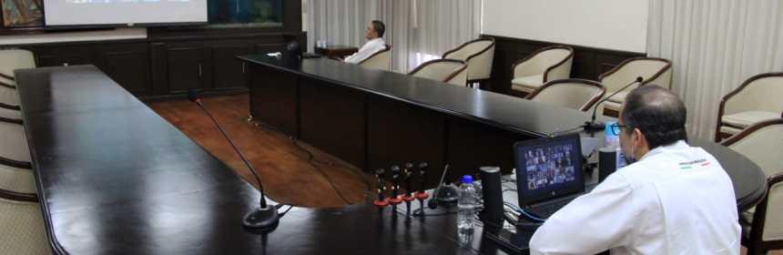 JIPS Videoconferencia 3 - Gobernador pide a Gobierno Federal apoyos para empresas de #Colima ante #Covid19
