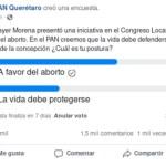 PAN encuesta - El PAN lanza encuesta sobre aborto en Querétaro; la mayoría vota a favor y borra resultados - #Noticias