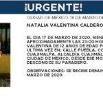 alerta amber 3 - ALERTA AMBER | No se sabe nada de Natalia, de 12 años, desde hace 2 días; fue vista por última vez en Cuajimalpa