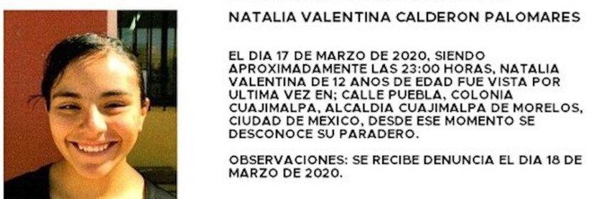 alerta amber 3 - ALERTA AMBER   No se sabe nada de Natalia, de 12 años, desde hace 2 días; fue vista por última vez en Cuajimalpa