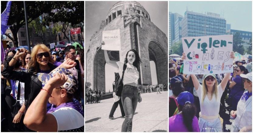 famosas marcha 8m - FOTOS: Adela Micha, Camila Sodi y otras famosas que estuvieron presentes en la marcha del 8M - #Noticias
