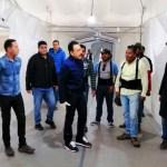 fayad - El Gobernador de Hidalgo recorre el Hospital Inflable que atenderá casos de coronavirus