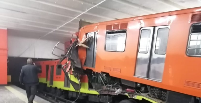 metro - Chocan trenes del Metro en la estación Tacubaya - #Noticias