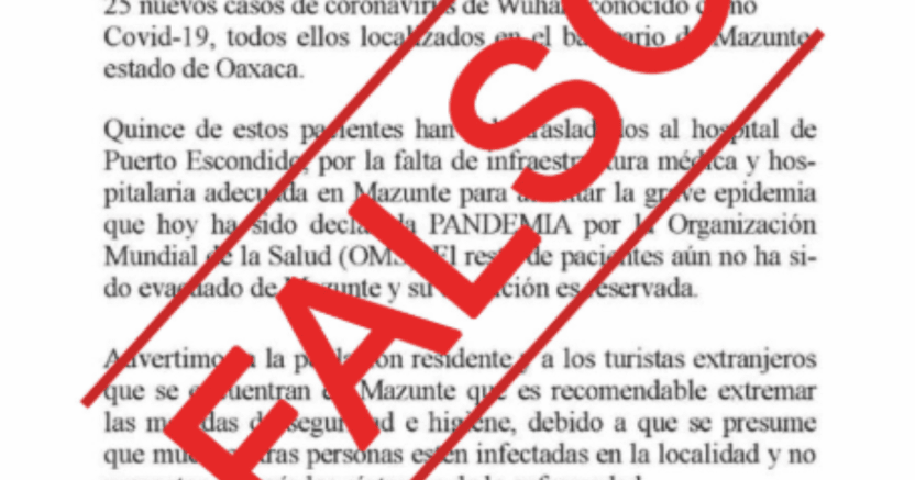 pide sso no difundir informacixn falsa sobre covid 19 crop1584078081019.png 673822677 - Pide SSO no difundir información falsa sobre coronavirus - #Noticias