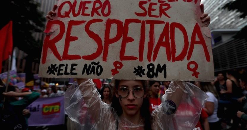 """protestas brasil - Mujeres salen a defender sus derechos en Brasil; acusan a Bolsonaro de """"incentivar el machismo y la violencia"""" - #Noticias"""