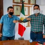 Reunión Locho y Farias - Presidente Leoncio Morán y Diputado César Farías, acuerdan trabajar coordinadamente en favor de Colima