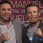 de la hoya y chavez - Oscar de la Hoya reveló que el narco lo amenazó para que no venciera a Julio César Chávez