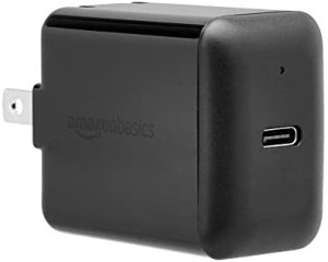 Amazon Basics 15W One-Port Type-C Wall Charger, US/Black