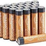 AmazonBasics AAA Baterías - Paquete de 20 pilas