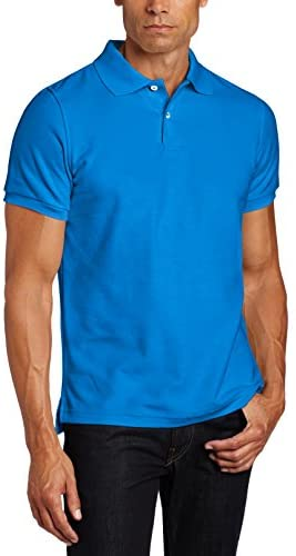 Lee Uniforms Men's Short Sleeve Uniforms Polo, Royal, Small