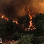 incendio portugal - Autoridades portuguesas controlan incendio en Oleiros; 850 bomberos aún permanecen en la zona