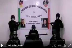 """VIDEO  22O se alinean o se mueren22 amenaza Cártel de los Alemanes a autoridades y rivales - VIDEO: """"O se alinean o se mueren"""" amenaza Cártel de los Alemanes a autoridades y rivales"""