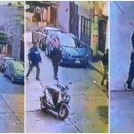 asalto cd azteca - VIDEO: Sujetos en moto intentan asaltar a joven en Edomex, éste huye pero lo alcanzan y golpean