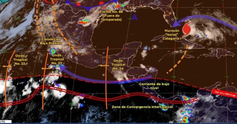 clima 01 08 1 crop1596281683415.jpg 673822677 - Pronóstico del clima de hoy: Continúan las fuertes lluvias en gran parte de México