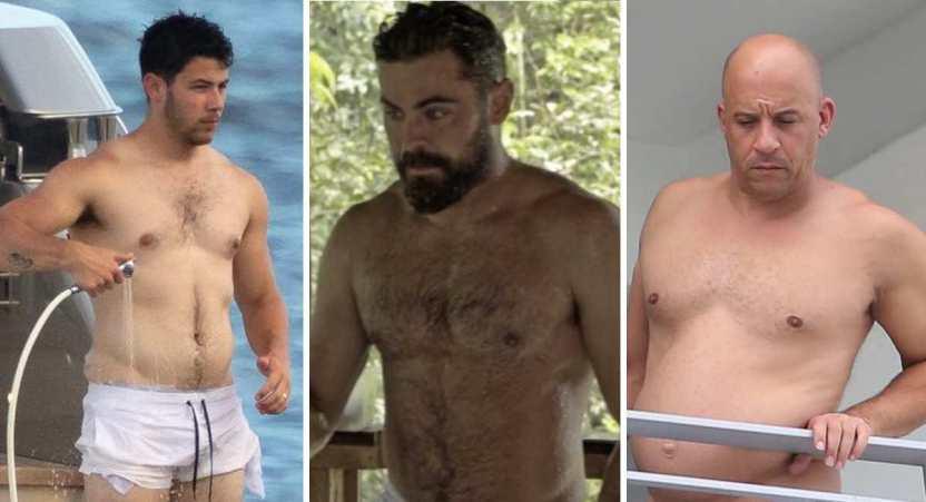 """famosos pancita 1 - 16 hombres famosos con """"pancita"""" que siguen robando corazones. Leo DiCaprio la presume"""