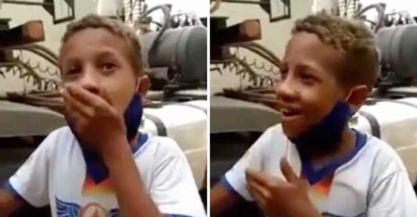 niño vende helados para poder viajar y camioneros le compran todo - Niño vende helados para poder viajar y camioneros le compran todo. No quieren que tenga que trabajar