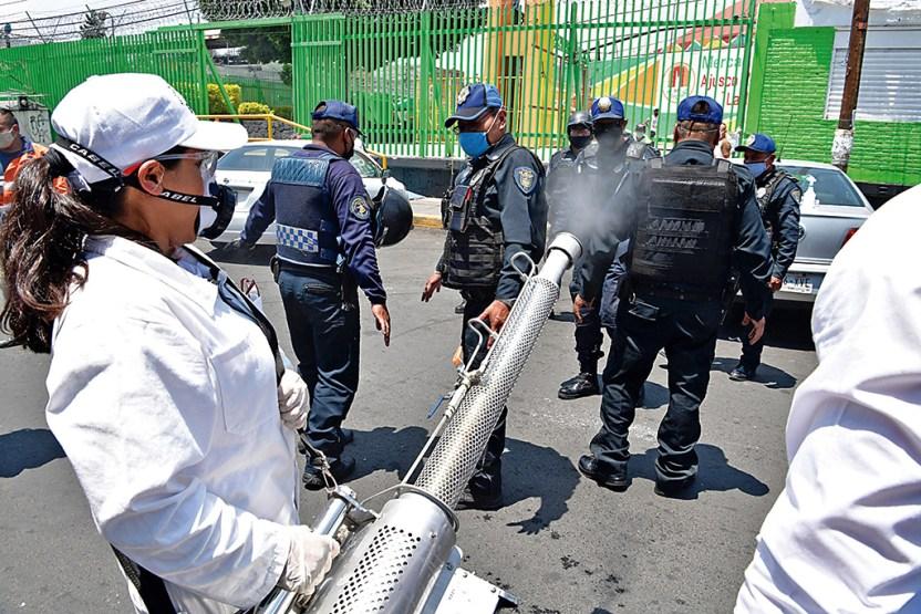 policias expuestos coronavirus - 100% expuestos - Proceso Portal de Noticias