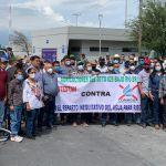 Conagua protesta agricultores - Agricultores de Tamaulipas protestan en Conagua de Nuevo León