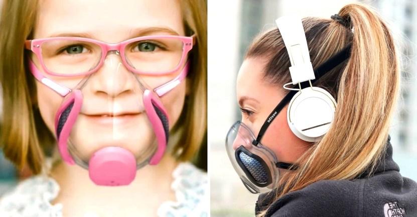 mascarilla weetbe - Weetbe, la nueva mascarilla transparente con un ventilador para filtrar el aire. Busca ser un éxito