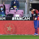 multa barcelona festejo messi maradona - El Barcelona recibirá una multa por tributo de Lionel Messi a Maradona