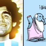 portada mundo ilustracion dice adios diego armando maradona arte homenajear artista - El mundo de la ilustración dice adiós a Diego Armando Maradona. Arte para homenajear a un artista