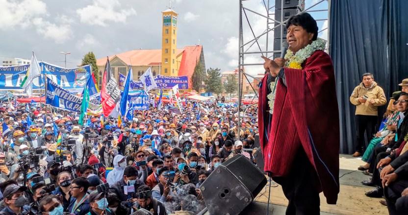 evo morales - Evo Morales regresa a La Paz luego de un año de su renuncia; pide unidad a sus simpatizantes