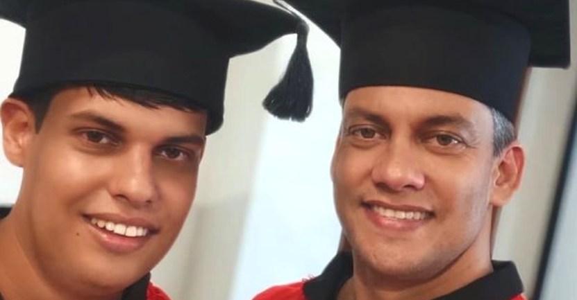 autismo estudiante padre graduado 2 - Pai começou a estudar direito para apoiar o seu filho com Asperger. Hoje, ambos estão formados