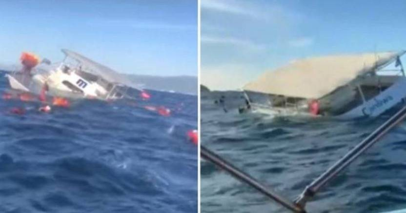 embarcacion puerto vallarta  - Se hunde embarcación con 60 turistas en Puerto Vallarta, salen ilesos