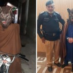 """hombre lobo prision - """"Hombre lobo"""" es arrestado por asustar gente en vísperas de Año Nuevo. Rugía a los transeuntes"""