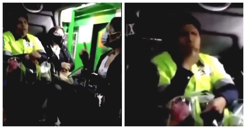 lady pepitas - VIDEO: Mujer se niega a usar cubrebocas por comer en una combi del Edomex; la apodan #LadyPepitas