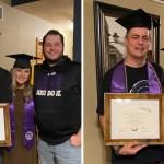 papa universitario portada 1 - Papá se graduó de la universidad junto a su hija sin decirle a nadie. Celebraron unidos su sorpresa
