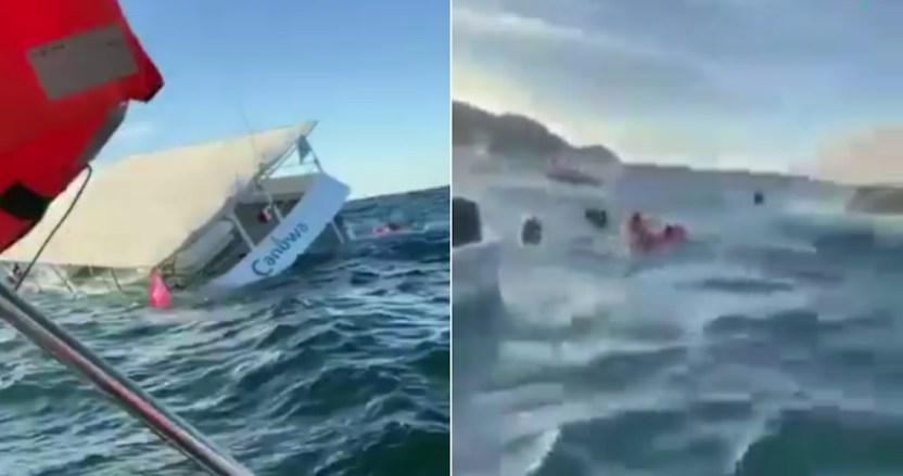 puerto vallarta - VIDEOS: Embarcación turística con 60 pasajeros se hunde en Puerto Vallarta; no se reportan heridos