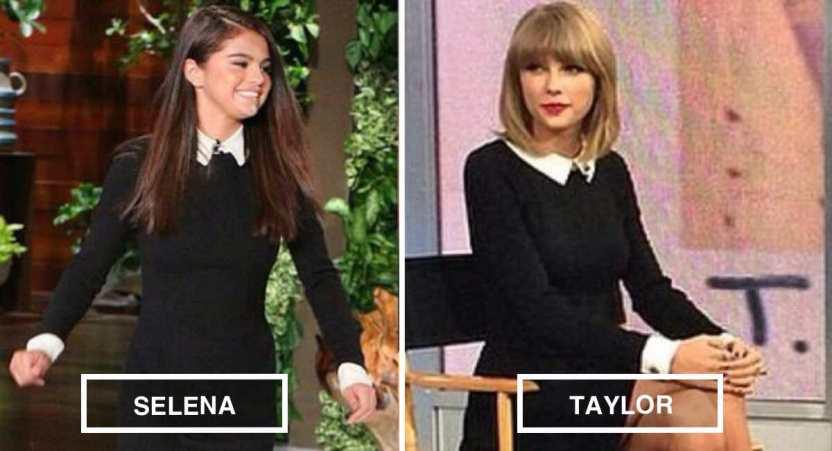 taylor swift selena gomez - 12 veces que Selena Gomez y Taylor Swift se vistieron iguales. Comparten hasta el clóset