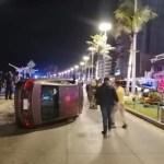 vuelca vehiculo en mazatlan tras persecucion.jpg 242310155 - Vuelca vehículo en persecución tras chocar a policías de Mazatlán