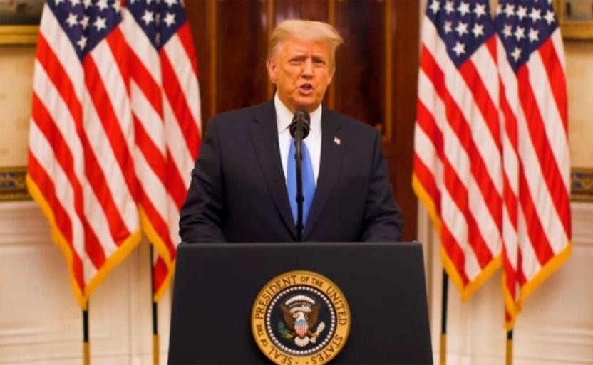 xhicimos lo que vinimos a hacer donald trump y su discurso de despedida para estados unidos .jpg 242310155 - Donald Trump y su discurso de despedida para Estados Unidos