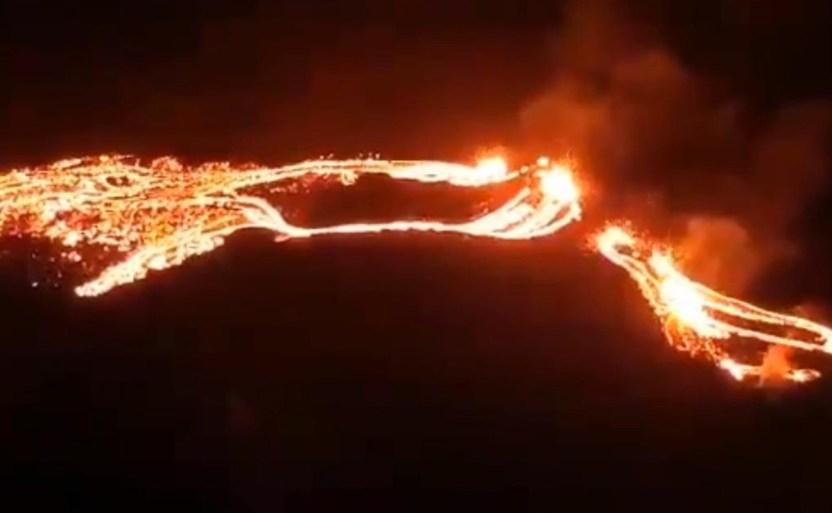 erupcixn del volcxn fagradalsfjall en islandia 1 crop1616201294853.jpg 242310155 - Alerta por erupción del volcán Fagradalsfjall
