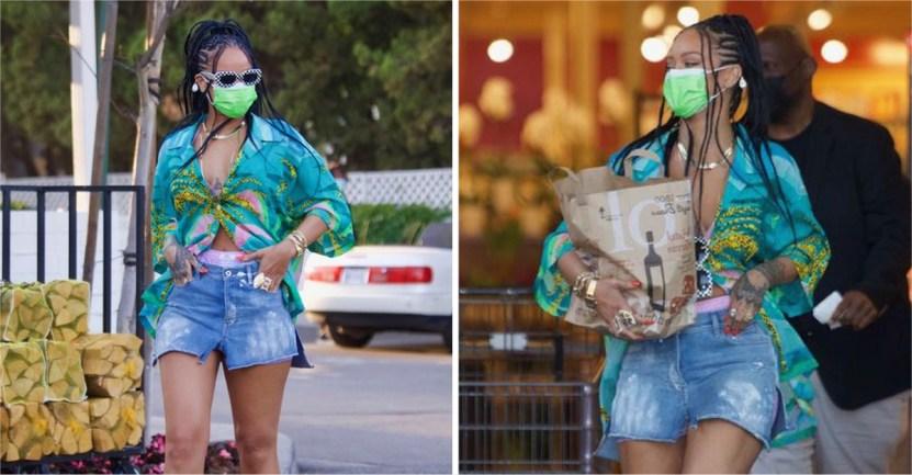 rihanna compras - Rihanna sorprende de compras en elegantes tacones. Se nota desde lejos que es toda una diva