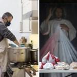 Fondo congregacion franciscana covid 1 - Padres franciscanos abrieron sus puertas a víctimas de COVID-19. Regalan comida y la fuerza de la fe