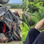 fernando carrillo - Las IMÁGENES del aparatoso accidente que sufrió Fernando Carrillo en una camioneta