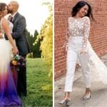 novias - 30 novias que no usaron el típico vestido blanco en su boda. Una se vistió de dinosaurio