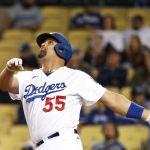GettyImages 1320589150 - Jardinero de los Giants le roba un jonrón a Albert Pujols en el noveno inning y evita el triunfo de los Dodgers